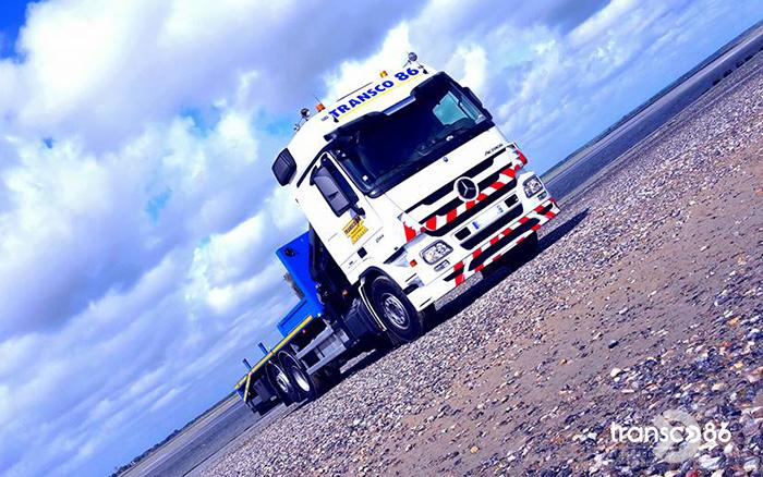 Transport transco avec camion bras