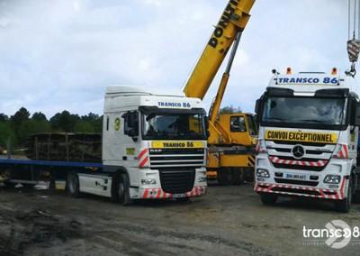 Transport Transco sur chantier